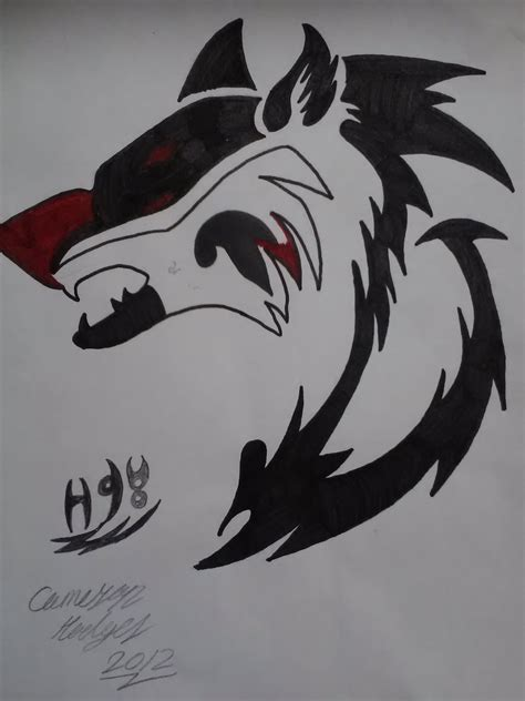alpha wolf tattoo my tribal wolf alpha and omega fan 32360935