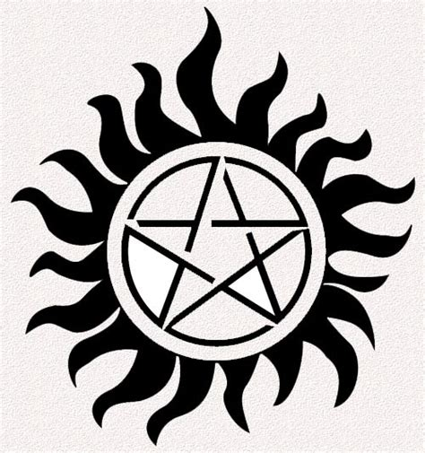 supernatural anti possession tattoo supernatural spn pentagram protection dads on a trip