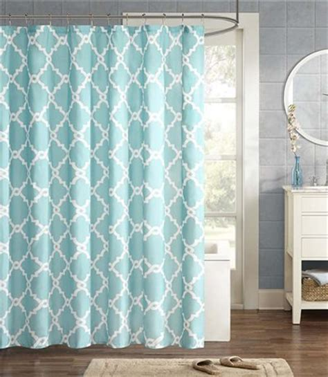 Aqua Color Curtains Designs Merritt Aqua Shower Curtain Everything Turquoise
