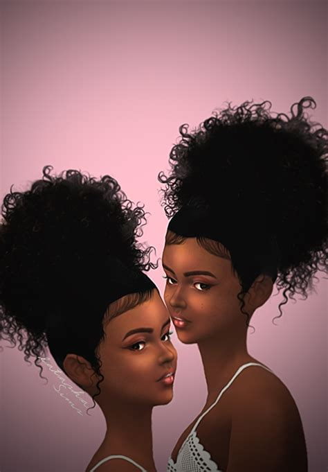 sims 4 black people hair sims 4 natural hair tumblr