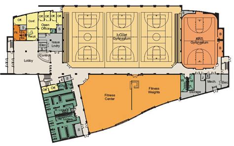 basketball gym floor plans facilities equipment