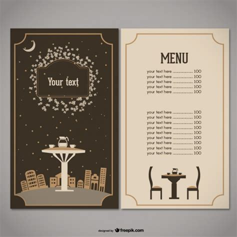 design menu cafe vector restaurant menu vector free download