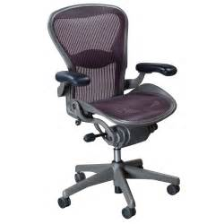 Herman Miller Chairs Herman Miller Aeron Used Size B Task Chair Garnet