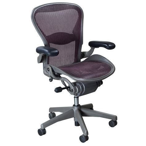Herman Miller Chairs by Herman Miller Aeron Used Size B Task Chair Garnet