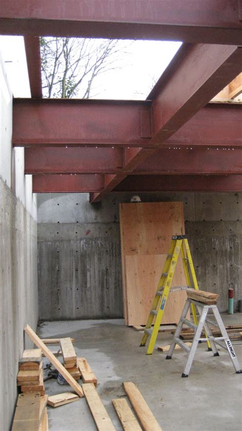 structure cypress steel beam home building  vancouver