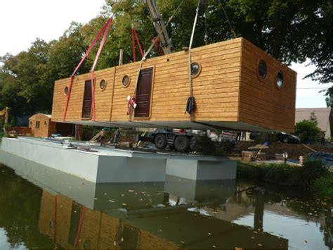 Eco House Design vends maison flottante pour plan d eau ou cours d eau