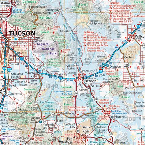 arizona road map arizona road map a z pictures to pin on pinsdaddy