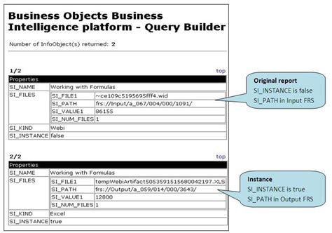 format date business objects business objects administration file repository servers