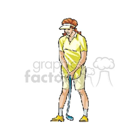 clip art sports golf   related vector clipart