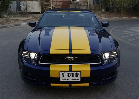 ford mustang shelby gt 5 0 yellow stripes foilacar
