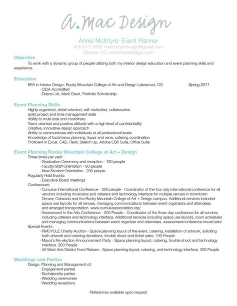 Event Planner Resume Template by Event Planner Resume Event Planning