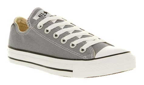 Sepatu Converse All Start Low Grey lyst converse all ox low lead grey st in gray for
