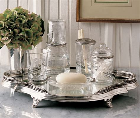 silver bathroom tray silver vanity tray grisaille pinterest