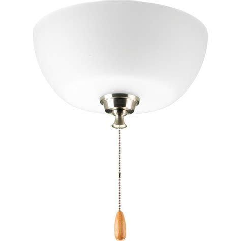Nickel Ceiling Light Progress Lighting Wisten Collection 3 Light Brushed Nickel Ceiling Fan Light P2649 09 The Home