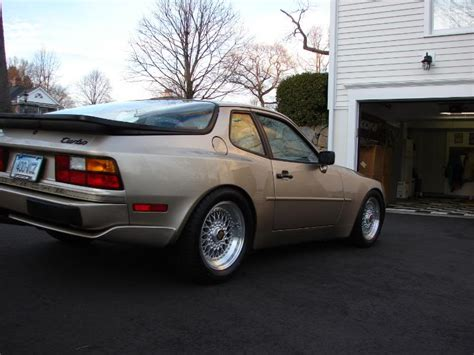 porsche 944 gold gold porsche 944 turbo on silver 16 bbs rs bbs rs zone