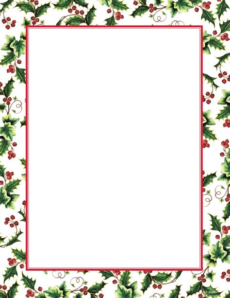 8 best images of free printable christmas borders holly