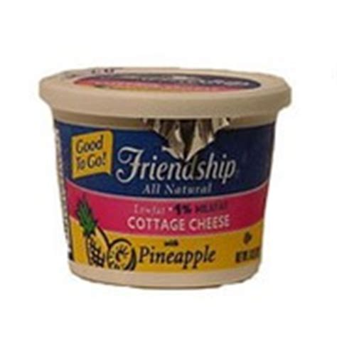 friendship cottage cheese nutrition friendship cottage cheese with pineapple calories