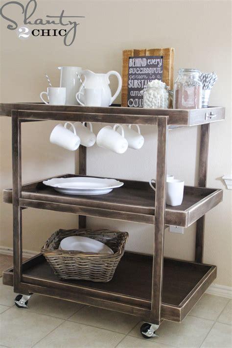 Kitchen Coffee Cart by Diy Bar Cart Shanty 2 Chic