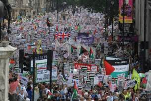 Protest Today Tens Of Thousands Protest Through Against Gaza