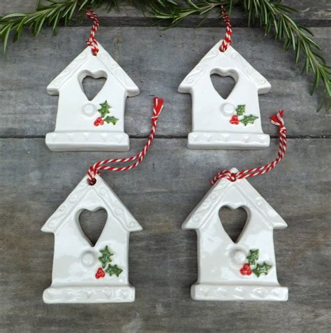 Handmade Ceramic Decorations - handmade ceramic bird house decorations by