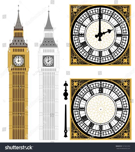 bid stock big ben in vector 121521253