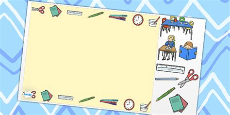 School Themed Editable Powerpoint Background Template School School Themed Powerpoint Templates