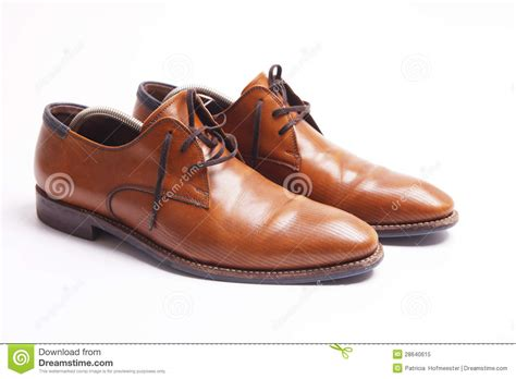 brown leather s shoes royalty free stock photo image