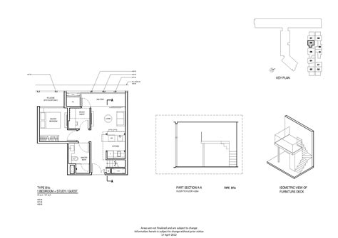 robertson 100 floor plan 1 bedroom study up robertson quay