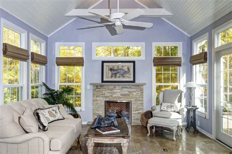Kitchen With Living Room Design by A Sunroom Addition In Powell Dave Fox