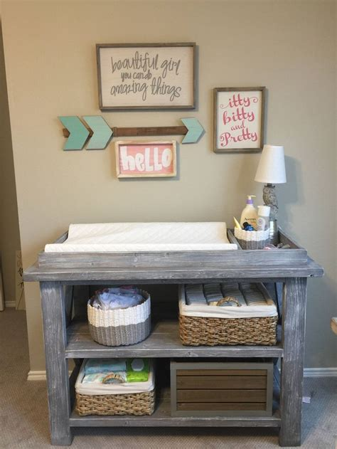 rustic grey changing table best 25 rustic changing tables ideas on