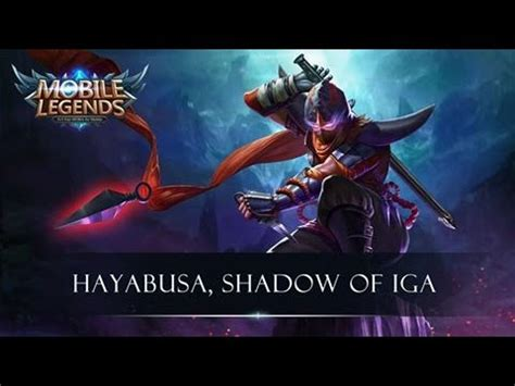 wallpaper mobile legend hayabusa hayabusa mobile legends new ch youtube