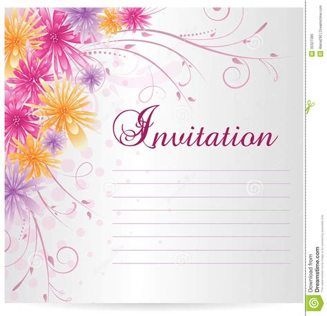 invitation template blank with multicolored abstract