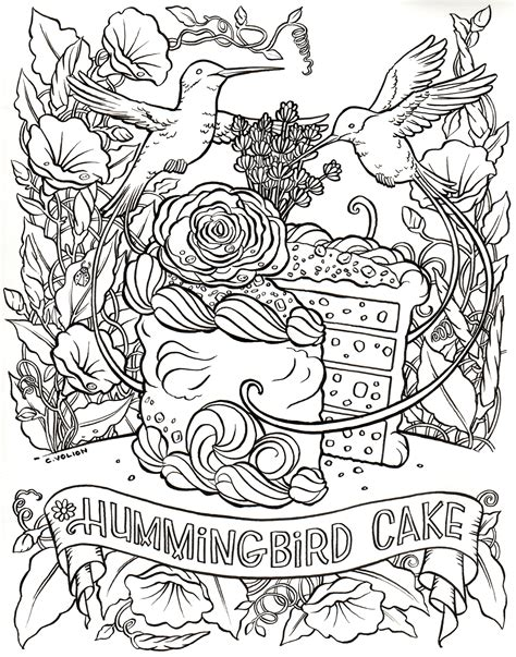 cake coloring pages for adults the fantasy cake color and bake cookbook a coloring and