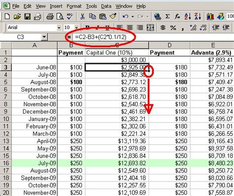 Credit Formula Payment Make A Personal Budget On Excel In 4 Easy Steps
