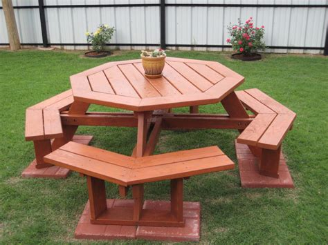 octagonal picnic table by deucefour lumberjocks