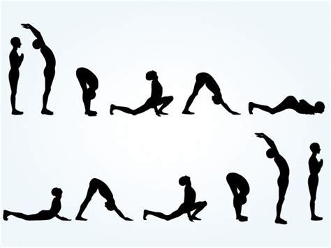 imagenes de posturas de yoga gratis siluetas de posturas de yoga descargar vectores gratis