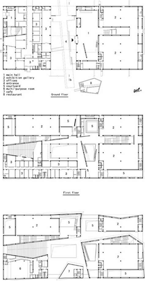 museum floor plan dwg 136 best images about architecture plans elevations