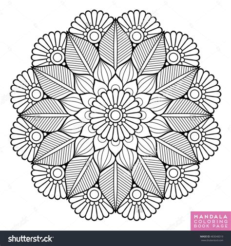 mandala coloring pages vector flower mandala vintage decorative elements