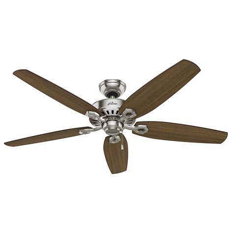 builder great room brushed nickel ceiling fan   fans