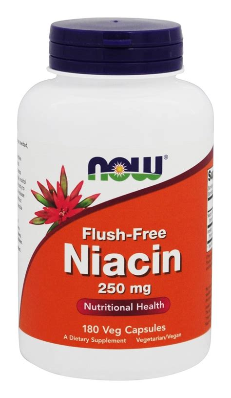 Niacin Detox Weight Loss by Buy Now Foods Niacin Flush Free 250 Mg 180 Vegetarian