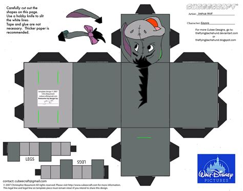 Disney Papercraft Templates - dis25 eeyore cubee by theflyingdachshund on deviantart