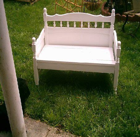 make a bench from a bed crafts twin headboard and old cribs on pinterest