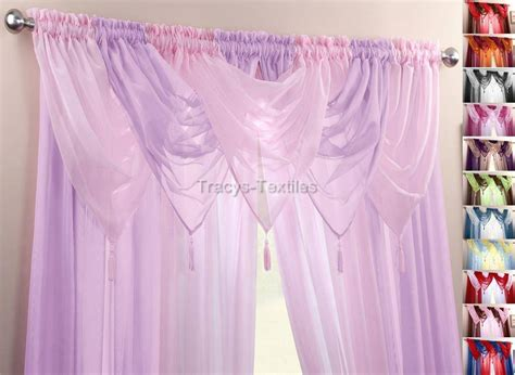 purple voile curtains ready made plain voile swag curtain decorative drapes ready made in