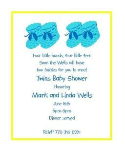 Twin Boy Baby Shower Quotes
