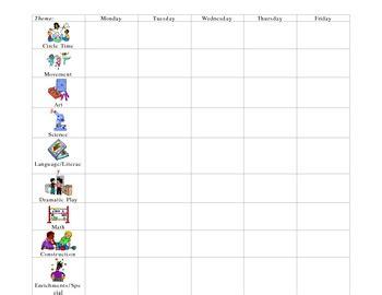 homeschool lesson plan preschool preschool lesson plan form by learning foundations