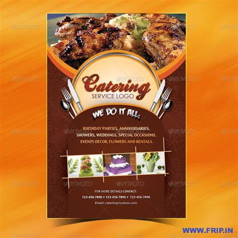 catering menu template flyer menu design pinterest