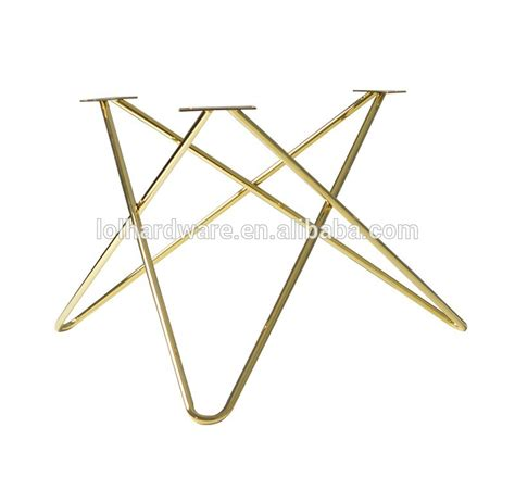 stainless steel wire table leg in copper golden black