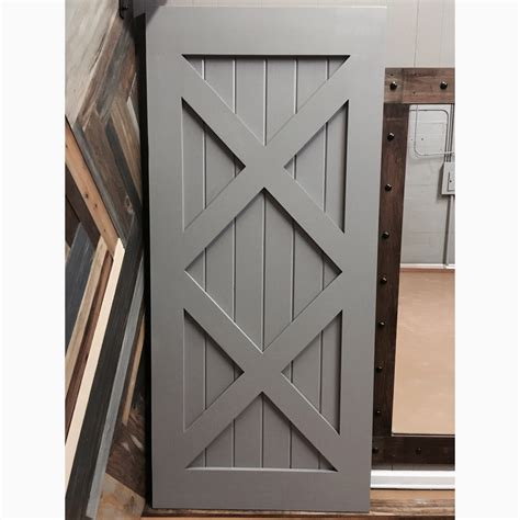 modern painted sliding barn door by rustic luxe