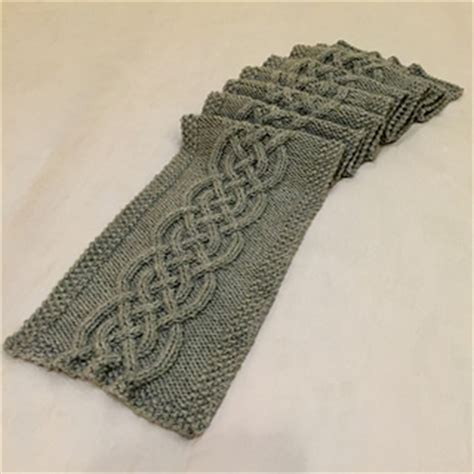 celtic cable knit scarf pattern ravelry celtic knot cable scarf pattern by kristen mangus
