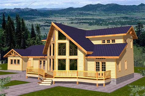 mountain view home plans mountain home plan for view lot 35100gh architectural